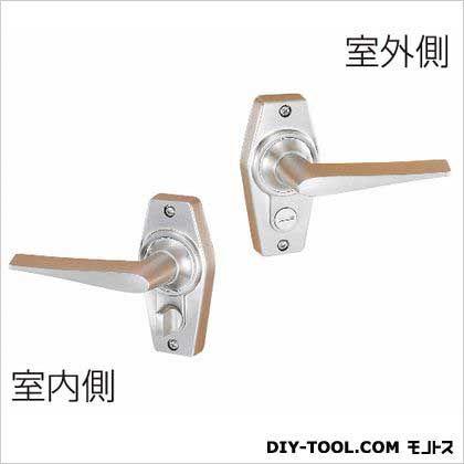 ホームレバー内締錠 ニッケル 60MM HL-3N  セット