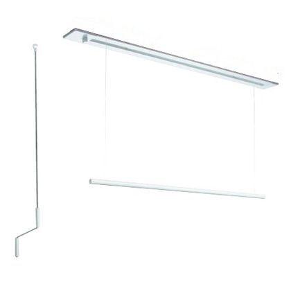 室内用ホスクリーン昇降式 埋込タイプ ホワイト  URB-L-W 1 セット