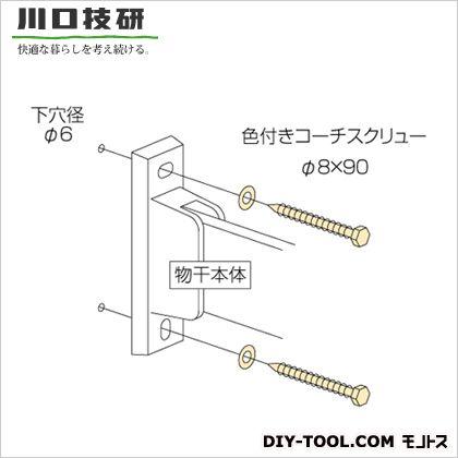 川口技研 ホスクリーン取付パーツ ライトブロンズ  HP-6-LB 1 袋
