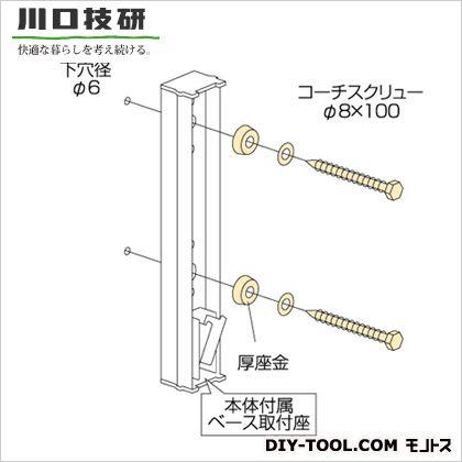 川口技研 ホスクリーン取付パーツ ステンレス生地  HP-6G 1 袋