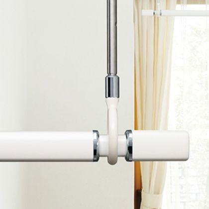 室内用物干竿セット ホワイト 最小0.95~最大1.54m QSC-15