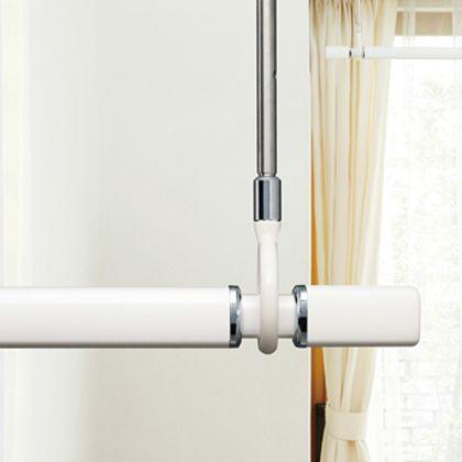 室内用物干竿セット ホワイト 最小1.45~最大2.54m QSC-25