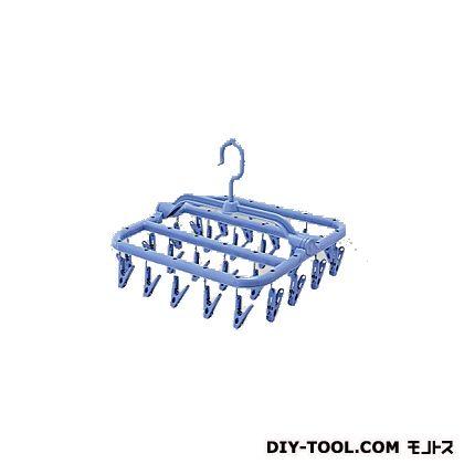スーパー小物まとめ干しハンガー ブルー W-203   163488