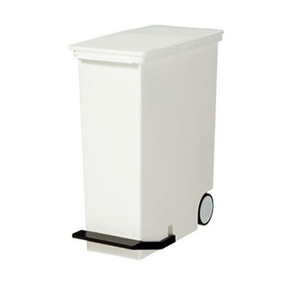 ごみ箱  分別ペダルペール  たて型 ホワイト 約幅24×奥行49×高さ54(cm) 231012