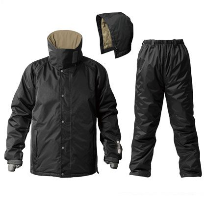 サーモセイバー防水防寒スーツ ブラック L AS-3100