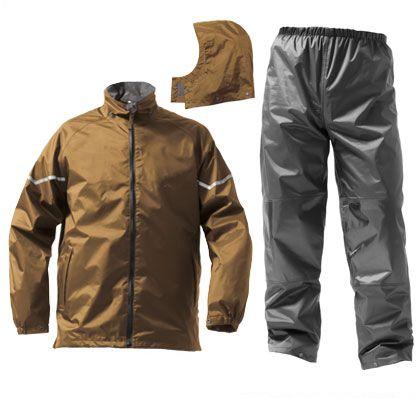 技あり防水防寒スーツ カーキ EL (AS-3200)