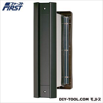 No.2000ポストタテ型内フタ付気密型大壁用 黒 壁厚調整範囲:135~190mm 投入口:H236×W35mm 001-5837 1 台