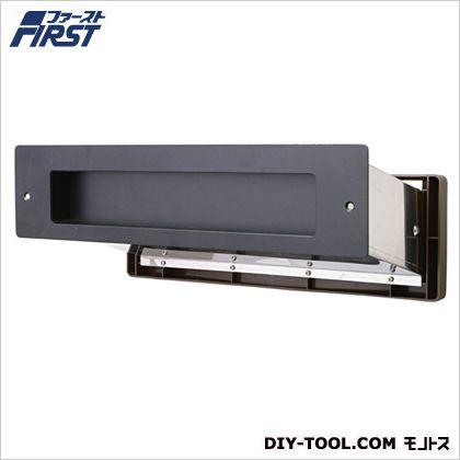 No.3000ポスト内フタ付気密型厚壁用 黒 壁厚調整範囲:190~290mm投入口:H50×W300mm 001-5952 1 台