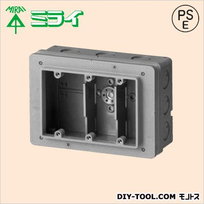 埋込スイッチボックス3個用大深形(塗代カバー付)   CSW-3N65PS3 20 ヶ