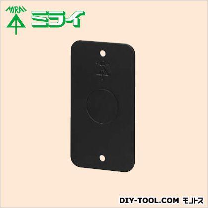 鉄製ブランクカバー(スイッチボックス1個用) 黒 (PA-CSW1S-B22) 10ヶ