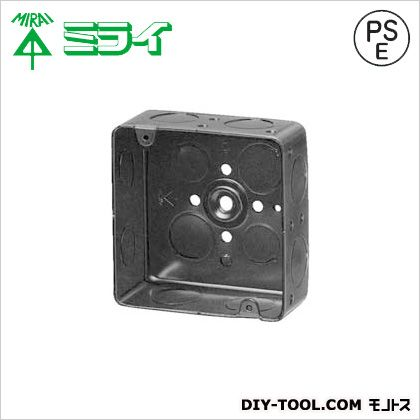 スタットレットボックス(3分スタット付鉄製アウトレットボックス) 黒 (OF-MA-3) 20ヶ