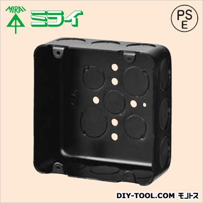 鉄アウトレットボックス 黒 (OF-LB-5N) 20ヶ