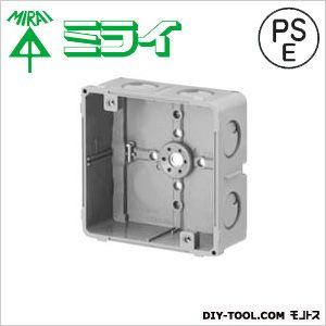 埋込四角アウトレットボックス グレー (CDO-4A) 1個
