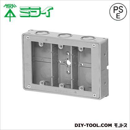 埋込スイッチボックス (極薄型)プラスチック製セーリスボックス グレー (CSW-3SSNF)