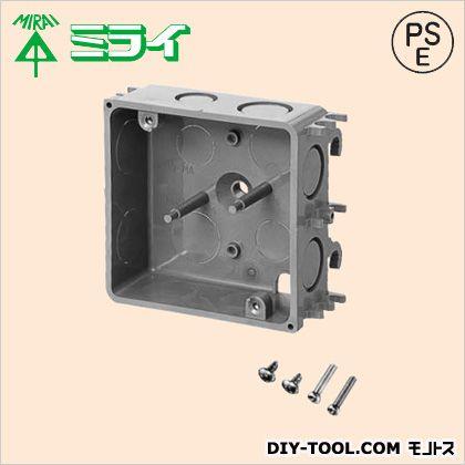 鉄筋ボックス (プラスチック製中形四角アウトレットボックス) グレー (CDO-MA) 1個