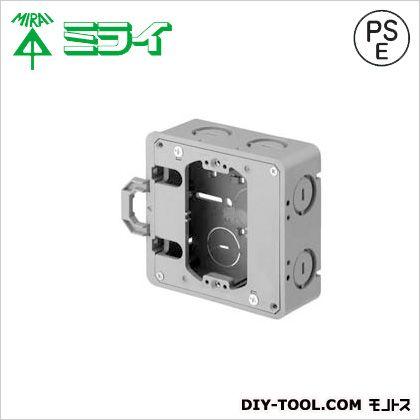軽間アウトレットボックス(平塗代カバー付)(軽間シリーズ) グレー (CDO-4AKMA12) 10ヶ