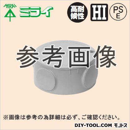 露出用丸形ボックス (ブランクタイプ) グレー (PVM-0)
