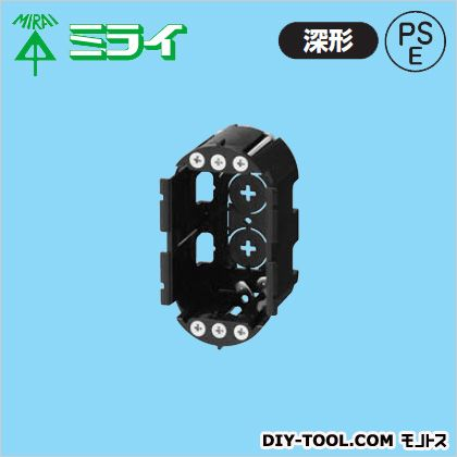 小判穴ホルソー用パネルボックス(あと付はさみボックス) (SBP-1GY) 40ヶ