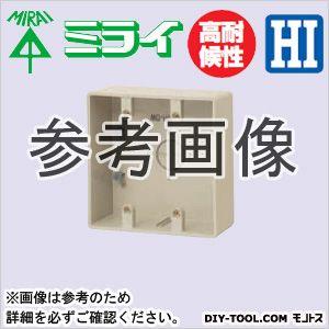 露出スイッチボックス2ヶ用・3ヶ用(コネクタ無) ベージュ (PVR-0WJ)