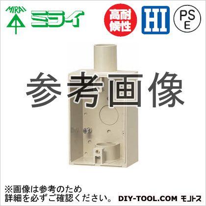 露出スイッチボックス(防水コンセント用) ベージュ (PVR22-BC2J)