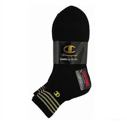 CMSBG211S 靴下SOクッションMAXクォーター ブラック 25cm~27cm (154229)