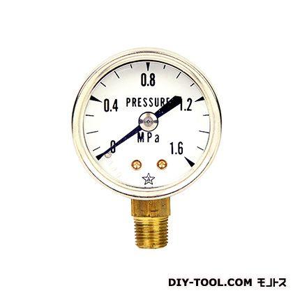 汎用圧力計A40・R1/8下   S-01・1.6MPA