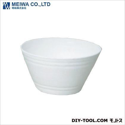 明和 セラアート平鉢 植木鉢(プラスチック樹脂製プランター) 白 27号