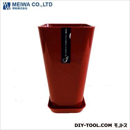 Jena6号植木鉢(プラスチック樹脂製プランター) カシスレッド