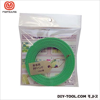 手芸用PPバンド 緑 15.5mm×10m