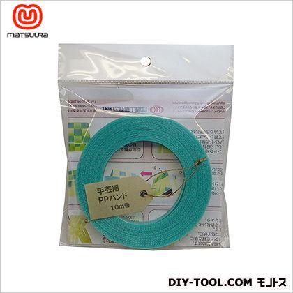 手芸用PPバンド 透明緑 15.5mm×10m