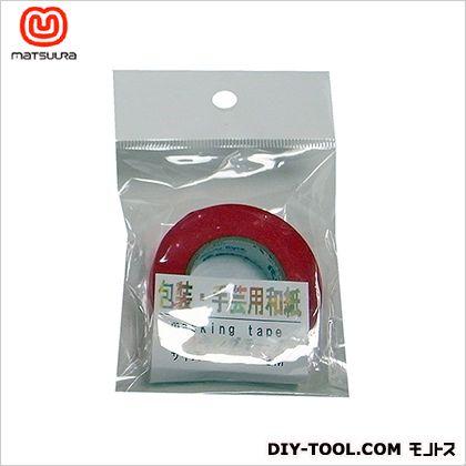 包装・手芸用和紙テープ 赤 15mm×18m