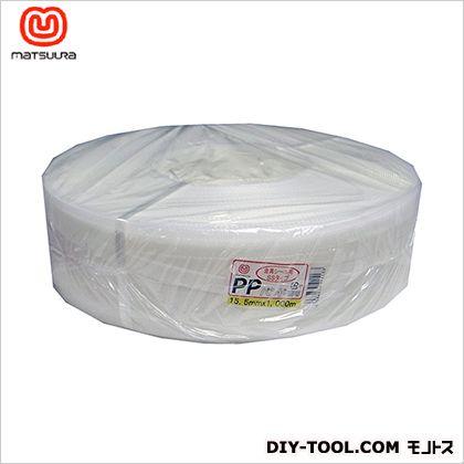 PPバンド (梱包・手芸用) 透明 15.5mm×1000m