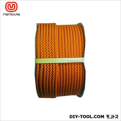 PEロープ ドラム巻 オレンジ 9mm×150m
