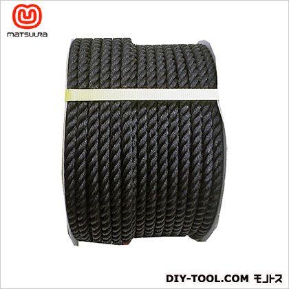 PEロープ ドラム巻 黒 12mm×100m