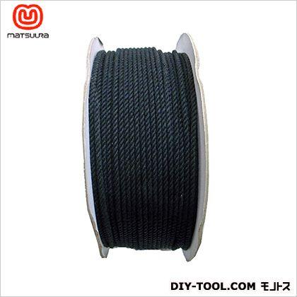 綿ロープ ドラム巻 黒 4mm×200m