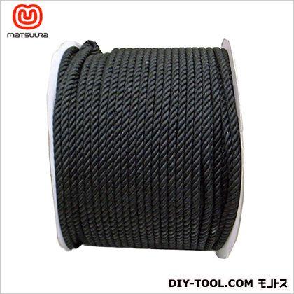 綿ロープ ドラム巻 黒 8mm×200m