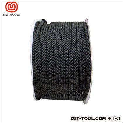 綿ロープドラム巻 黒 12mm×200m