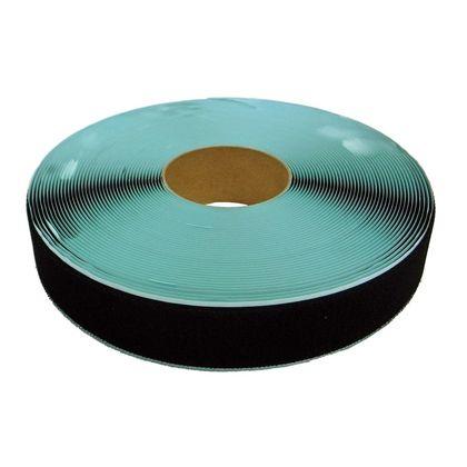 粘着付マジックテープ B面ループ(PN) 黒 50mm巾X25m