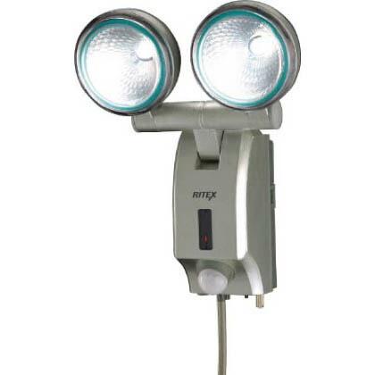 ムサシ ライテックス 多機能型LEDセンサーライト 7W×2頭式 (ほんのり常夜灯モード付き)   LED-AC514