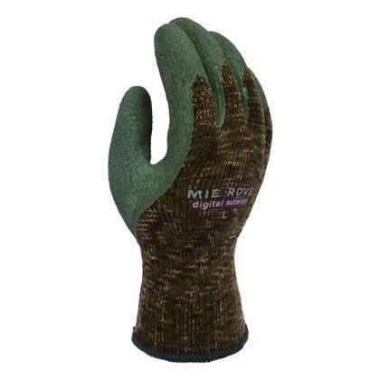 ソフトデジタルスベラン手袋 グリーン+デジタル迷彩 L 721