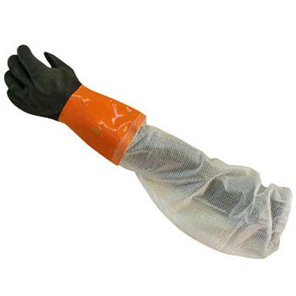 ミエローブ ソフトボアツートンロング手袋 オレンジ+透明 L 704