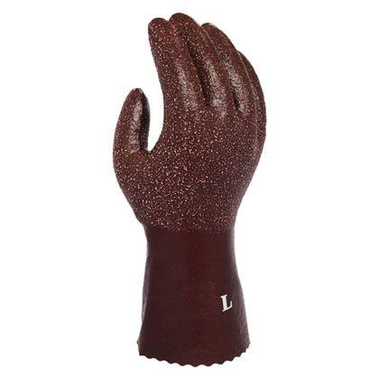 ソフトラバー防寒手袋 ブラウン L 716