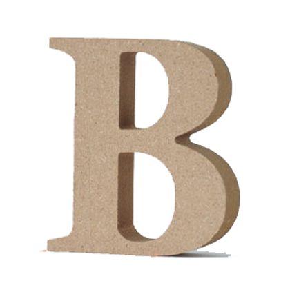 アルファベットレター 大文字 B  約90×90×20mm EE1-5051