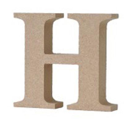 アルファベットレター 大文字 H  約90×90×20mm EE1-5057
