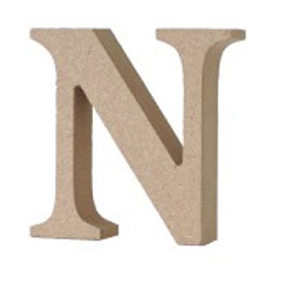 アルファベットレター 大文字 N  約90×90×20mm EE1-5063