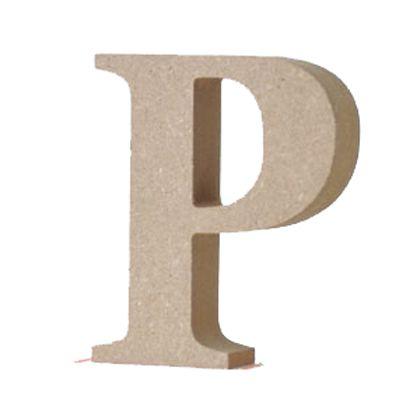 アルファベットレター 大文字 P  約90×90×20mm EE1-5065
