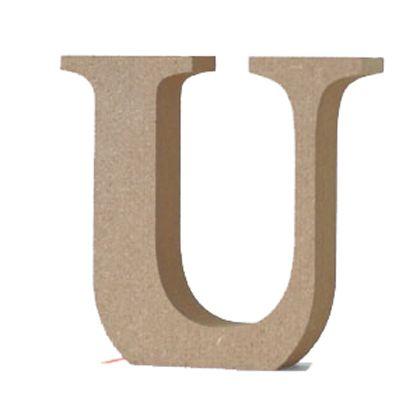 アルファベットレター 大文字 U  約90×90×20mm EE1-5070