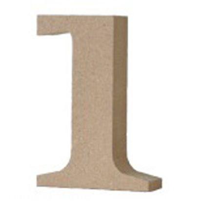アルファベットレター 数字 1  約20×65×90mm EE1-5077