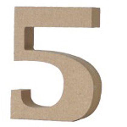 アルファベットレター 数字 5  約20×70×90mm EE1-5081