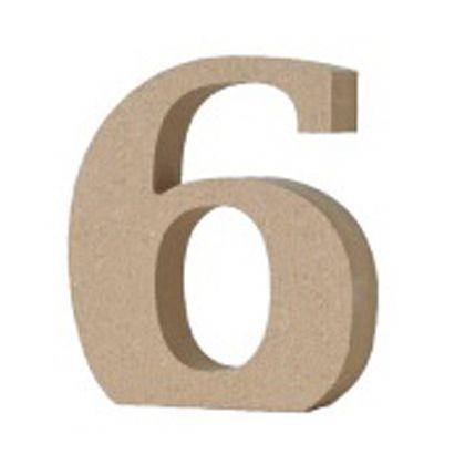 アルファベットレター 数字 6  約20×80×90mm EE1-5082